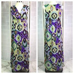 💥 Chico's ikat maxi dress sz 0.5
